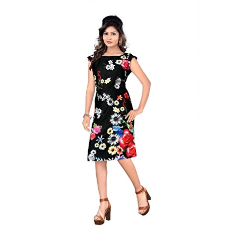 Kuber Designer Collection Kurti ( Black Colour Crepe Fabric With Printed Work...