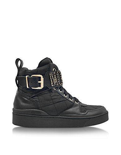 MOSCHINO HI TOP SNEAKERS DONNA MA15063G13MH100A POLIAMMIDE NERO