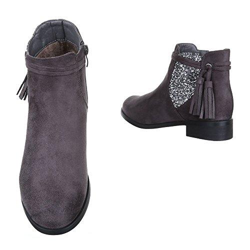 Ital-design Chelsea Boots Scarpe Da Donna Chelsea Boots Block Heel Block Heel Grey W132