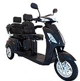 Elektromobil VITA CARE 2000 Seniorenmobil Senioren-Scooter mit Stra�enzulassung E-Scooter E-Roller Produktvideo, Schwarz