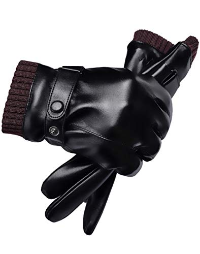 SHENHAI Handschuhe Warme Handschuhe Fahrradhandschuhe Outdoor Handschuhe Sporthandschuhe Herrenhandschuhe, Herren Schwarz 3