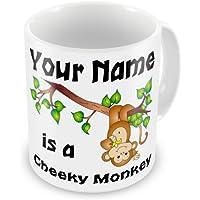 Personalised Cheeky Monkey Any Name Novelty Gift Mug