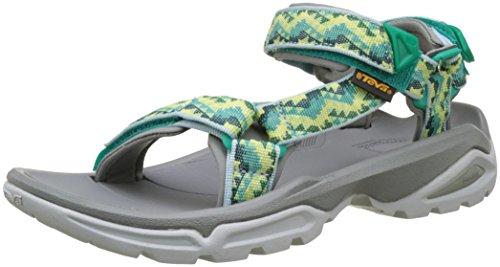 Teva W Terra Fi 4, Chaussures d'Athlétisme Femme Vert (Palopa Sea Green)