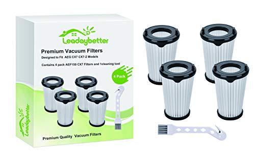 Leadaybetter 4 Stück Filter für AEG CX7 CX7-2 Ergorapido Staubsauger CX7 Filter für alle Modelle Artikelnummer AEF150, für alle CX7-2 Modelle
