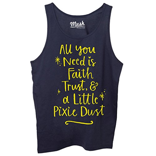 Canotta PETER PAN QUOTES - FILM by Mush Dress Your Style - Donna-M-Blu navy