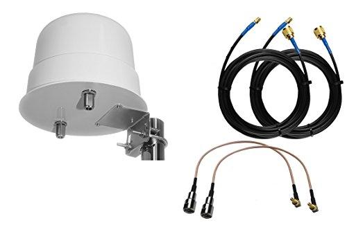 Simplytech Comunicación Omni Direccional 4G 3G LTE MIMO Antena Externa para  Router Huawei Booster E5180 E5377 E3272 E3372 E3276 CRC9
