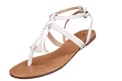 C M - Sandale femme 1372-174 White Blanc