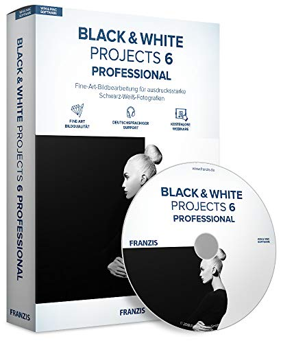 FRANZIS BLACK & WHITE projects 6 professional | Perfekte Schwarz-Weiß-Fotografie | für Windows PC und Mac |CD-ROM (Black Projects)