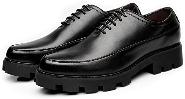 Fang shoes  2018 Herren Freizeitschuhe Matte PU Leder Prom Loafer Lace up Atmungsaktiv Gefüttert Strong Outsole