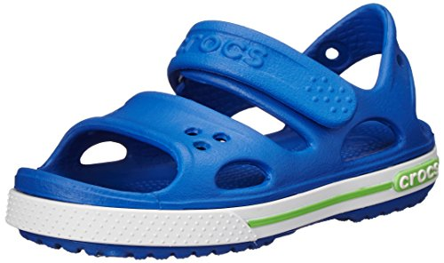 Crocs Boy's Crocband II Sandal PS Sea Blue and White Rubber Sandals and Floaters - C9  available at amazon for Rs.1950