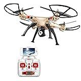 Esun Europe GmbH FPV Drohne mit HD Kamera live ubertragung Lange Flugzeit SYMA X8HW RC Quadcopter Ferngesteuert mit Höhenhaltung,Headless Modus,App Steuern für Anfänger und Kinder