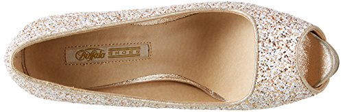 Buffalo David Bitton Jh-a4070-b Glitter, Escarpins Femme Blanc (White 55)