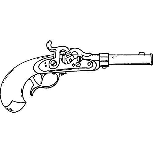 A8 'Antike Gewehr' Stempel (Unmontiert) (RS00022233) (Gewehre Antike Gewehr)