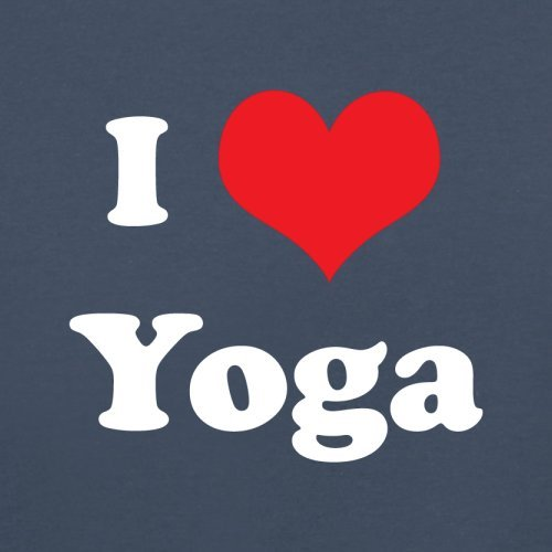 I Love Yoga - Herren T-Shirt - 13 Farben Navy