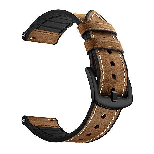 TianranRT Leder Watchenarmband Handgelenk Riemen Armband für Huami Amazfit Bip Jugend Watch 20mm (Braun) Leder Ipod Armband