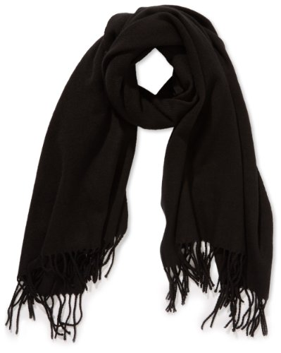 PIECES Damen Schal NEW EIRA WOOL SCARF NOOS, Einfarbig, Gr. One size, Schwarz(Black)