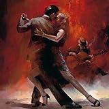 feelingathome-Impresi—n-artistica-Tango-Argentino-II-cm89x89-poster-lamina-para-cuadros