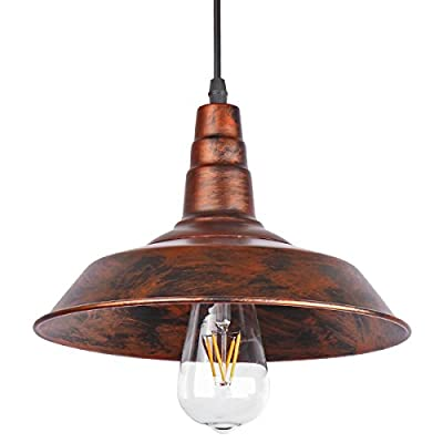 Sunsbell® Industrial Retro Vintage Loft Wall Coffee Bar Lighting Fixtrure Sconce Pendant Ceiling Lamp Fixtures Light Shades for E27 Edison Bulbs(Brown, bulb is not included)