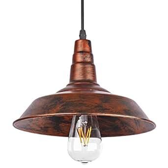 Sunsbell (MD) - Éclairage industriel rétro vintage de mur de café de Loft de barre d'éclairage Fixtrure Applique d'applique de plafond de pendentif de lumières pour des ampoules d'Edison E27 (brun, l'ampoule n'est pas incluse)