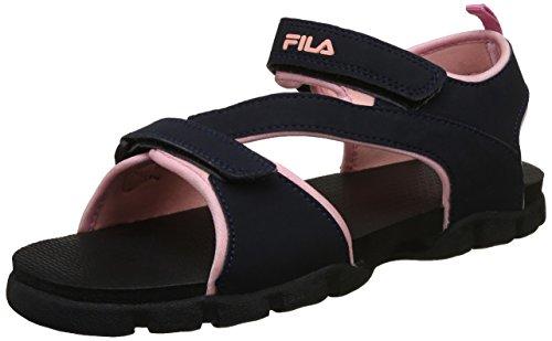 Fila Women's Concetta Navy and Light Pink Fashion Sandals - 7 UK/India (41 EU)(11005433)