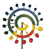 colourliving Windrad Garten Groß Metall Windspiel Rainbow Windmühle Gartendekoration Garten Terrassen Dekoration