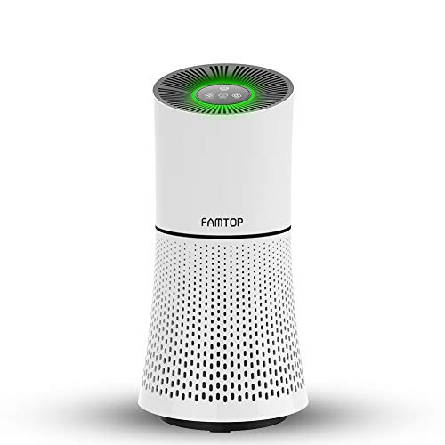 FAMTOP Air Purifier, Air Purificateur d'air Maison avec Vrai HEPA et Filtre à Catalyseur Froid, 4 Etapes de Filtration (Jusqu'à 99.97%), Pas d'ozone, Capturer Poussière, Fumée, Bactéries, Allergies