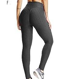 8592b9d8db4 FITTOO Mallas Pantalones Deportivos Leggings Mujer Yoga de Alta Cintura  Elásticos y Transpirables para Yoga Running