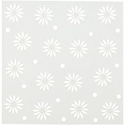 C.C. Designs-Stencil, in plastica, 15 cm x 15 cm, motivo: Starburst