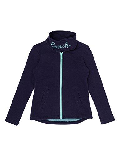 Bench Mädchen Sweatjacke Funnel Sweat, Blau (Maritime Blue Bl11213), 128 (Herstellergröße: 7-8)