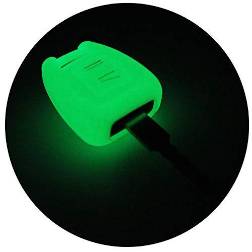 Schlüssel Hülle of für 3 Tasten Auto Schlüssel Silikon Cover von Finest-Folia (Nachtleuchtend)