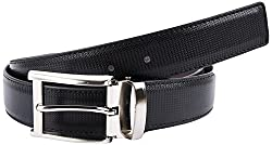 Stylish Synthetic Leather Black & Brown Reversible 34 Formal Belt For Men