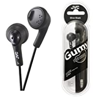 UKDapper JVC HAF160 Black Gumy Bass Boost Stereo Headphones for iPod, iPhone, MP3 and Smartphone