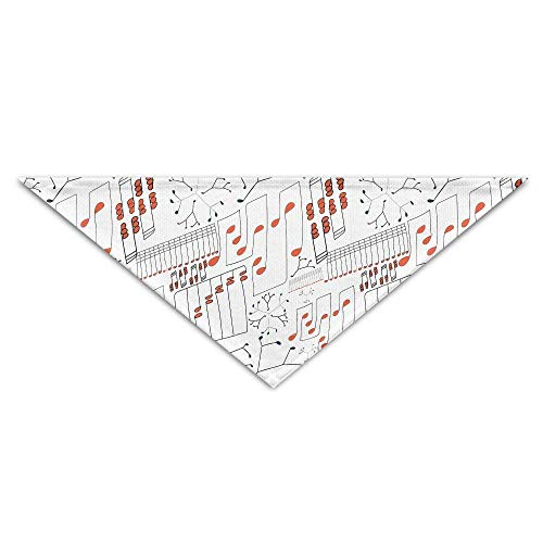 Gxdchfj Pet Triangle Bandana Artistic Musical Notes Washable Dog Puppy Scarf Bib Babys Neckerchief Accessories (Musical Hut Santa)