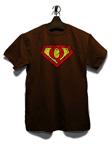 Q Buchstabe Logo Vintage T-Shirt Braun