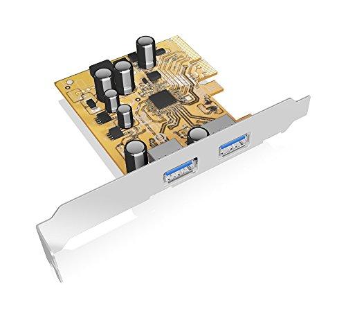 X4 Mit X8-steckplatz (Icy Box IB-U31-02 PCI-Express 2.0 (x2) Erweiterungskarte mit 2x USB 3.1 Anschlüssen (Gen 2 - Type-A), 10 Gbit/s, Full Profile & Low Profile, Silber)