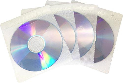 Energmix® - Copertina porta CD/DVD con fori per raccoglitore ad anelli, confezione da 100 per (Raccoglitore Ad Anelli Files)
