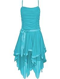 Fast Fashion Frauen Kleid Plain Zickzack Chiffon Prom Party Saum Mit  Rüschen Gürtel Tie c41c1cd958