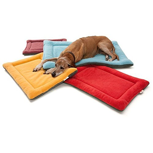 Vivi-Bear-Comfy-Fleece-Winter-Dogs-Warm-Sleeping-Mat-Puppy-Or-Kitty-Nap-Floor-Sleep-Bed-Caushion-Pet-Matress-Crate-Bed-Blue-5-Sizes-M-28-x-195-x-15-Inch