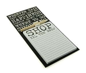 Vintage Citation Design Magnétique Mémo Patin & Crayon Aimant De Réfrigérateur Shopping List