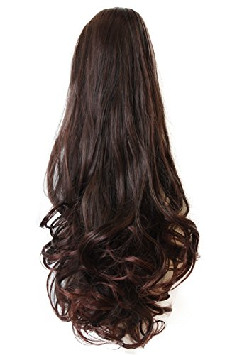 PRETTYSHOP 60 cm postiche extension de cheveux queue de cheval volumineux résistant à la chaleur Diverses couleurs H46