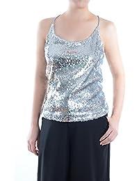 4738b720b98 Anna-Kaci Womens Shimmer All Over Sequin Sparkle Spaghetti Strap Vest Tank  Top
