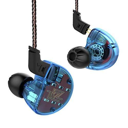 KZ Headset Earbud Kopfhörer ZS10 4BA1 Dynamische Hybrid Hallo FI DJ Monitor In Ohr Kopfhörer (Ohne Mikrofon, Blau)