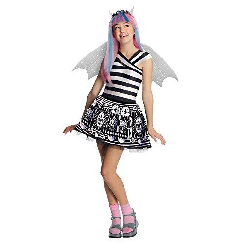 Monster High Kinder Kostüm Kleid mit Flügeln Rochelle Goyle (High Goyle Monster Rochelle Kostüme)