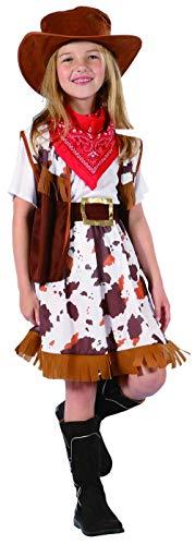 KULTFAKTOR GmbH Cowgirl Kinder-Kostüm braun-rot-Weiss 110/122 (4-6 Jahre)
