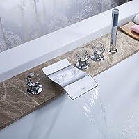 BASCJ ottonerubinetto del bagno,Contemporanea vasca cascata / diffusa / doccetta