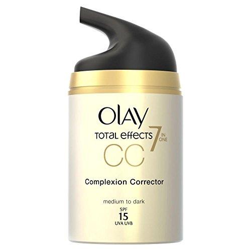 Total Effects de Olay CC Cream - moyen à foncé Skin Tone (50ml) - Paquet de 6