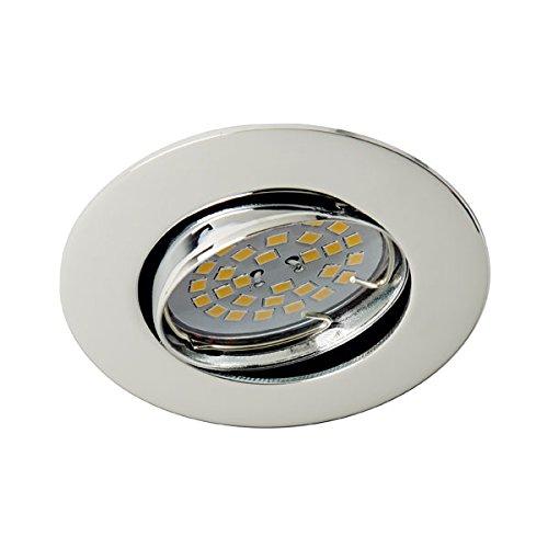 Wonderlamp Basic W-E000017 - Foco empotrable techo redondo cromo, incluye portalámparas GU10,...