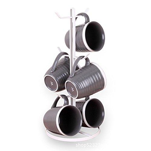 Kaffee-becher Haken (TY&WJ Tassenhalter Becher-haken Becher-baum Becher-ablageständer Halten und trocken Metal Einfache-A 17x17x38.5cm(7x7x15inch))