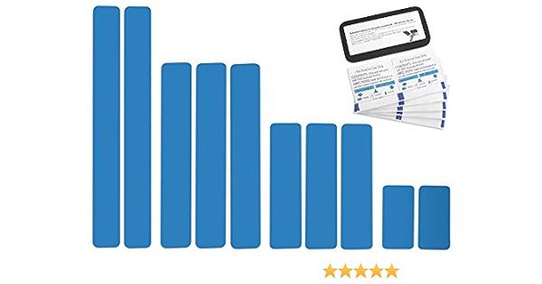 Selbstklebende Planenreparatur Tapes 10 Teilig Easy Patch Comfort 50mm Für Pools Planen Uvm Lichtblau Ral 5012 Auto