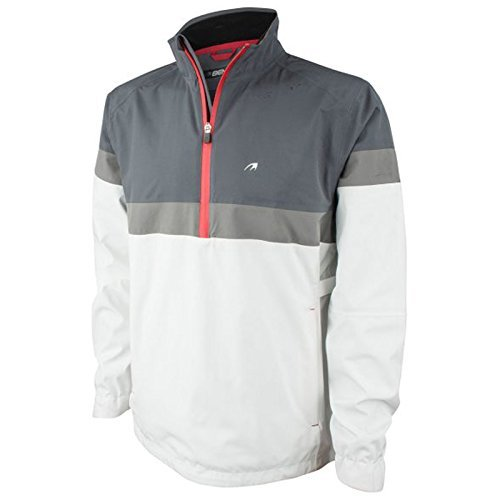 Benross Mens Hydro Pro Waterproof Quater Zip Jacket (White/Grey) (Small)